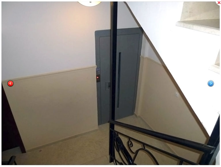 Elevator up to the 2nd floor