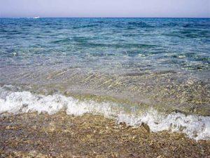 Aegean clear sea waters